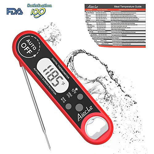 Digital Instant Read Meat Thermometer Waterproof Ultra-fast