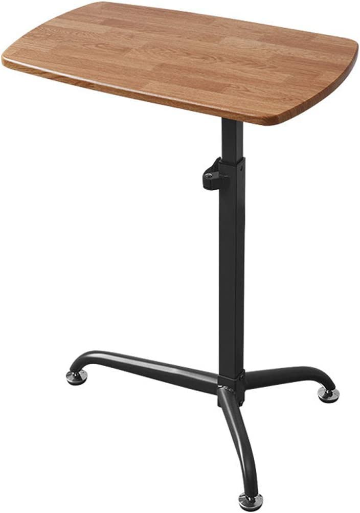Adjustable Height 66-101cm Sitting//Standing Dual Use Ergonomic Design Can Be Used As Reading Table and Dining Table Standing Desk//Movable Bedside Laptop Desk