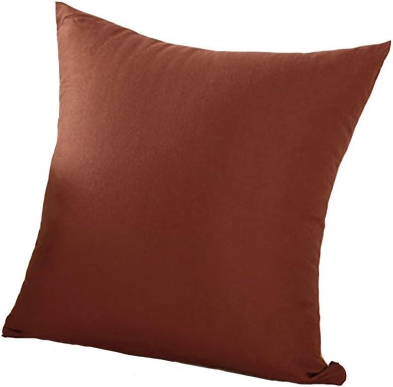 Taille unique Bodhi2000/Taie doreiller et housse de coussin couleur unique pour d/écoration de canap/é et de maison 45/x/45/cm Red