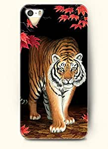 OOFIT Phone Case Design with Tiger Walking from the Darkness for Apple iPhone 5 5s
