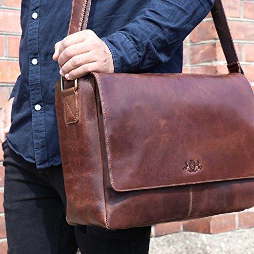 Pelle Bag Luce In Eton Portatile Valigetta Marrone amp; Vain® Sid Messenger wqxAEHPYn