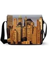 Attractive New York City Empire State Messenger Bag Oxford Fabric