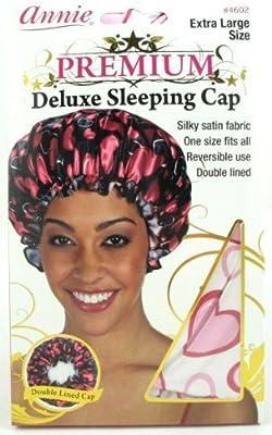 Haarschmuck ANNIE PREMIUM DELUXE SLEEPING CAP X-LARGE ZEBRA PATTERN  SLEEPING CAP #4600 Damen-Accessoires