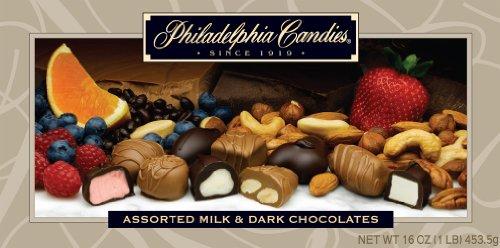 Philadelphia Candies Assorted Milk and Dark Chocolates, 1 pound Gift Box (Best Chocolate In Philadelphia)
