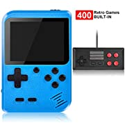 #LightningDeal Handheld Game Console, Kiztoys Retro Video Games Console for kids with 400 Classic Games, Supporting 2 Players and TV Connection, 800 mAh Rechargeable Battery