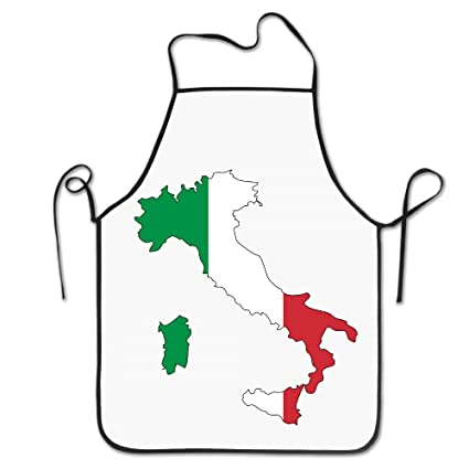 Map Of Italy Torino.Amazon Com Unisex Figure Italy Flag Map Torino Chef Aprons Vintage