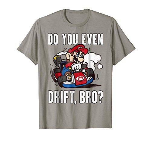 Nintendo Mario Kart Do You Even Drift Bro Graphic - T-shirt Womens Dark Bro