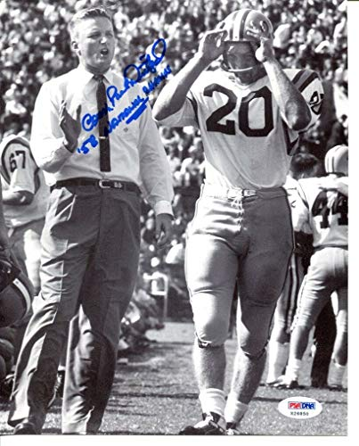 (Coach Paul Dietzel Signed Photo 8x10 Autographed LSU Tigers PSA/DNA X26850)