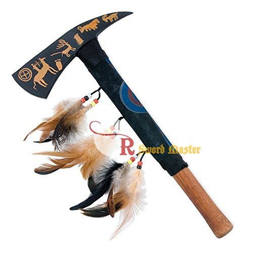 """Swordmaster - 16"""" Tomahawk Hatchet Native Indian Chief Axe with Art Painting on the Blade New"""