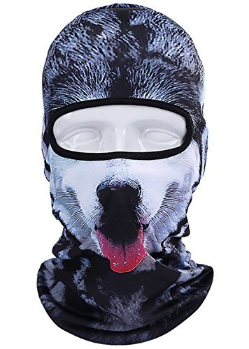 Coxeer Ski Mask Balaclava Mask Winter Face Mask Neck Warmer with 3D Animal Printed