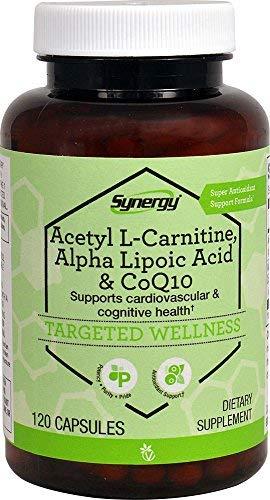 Vitacost Synergy Acetyl L-Carnitine, Alpha Lipoic Acid & CoQ10 -- 120 Capsules