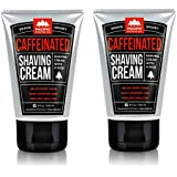 Pacific Shaving Company Caffeinated Shaving Cream - Helps Reduce Appearance of Redness, With Safe, Natural, and Plant-Derived Ingredients, Soothes Skin, Paraben Free, Made in USA, 3.4 oz (2 Pack)