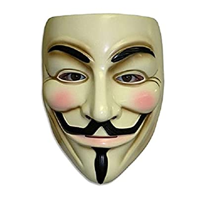 ZLLJH V for Vendetta Mask Guy Fawkes Anonymous Halloween Masks Fancy Dress Costume: Toys & Games