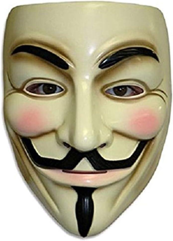 ZLLJH V for Vendetta Mask Guy Fawkes Anonymous Halloween Masks Fancy Dress Costume
