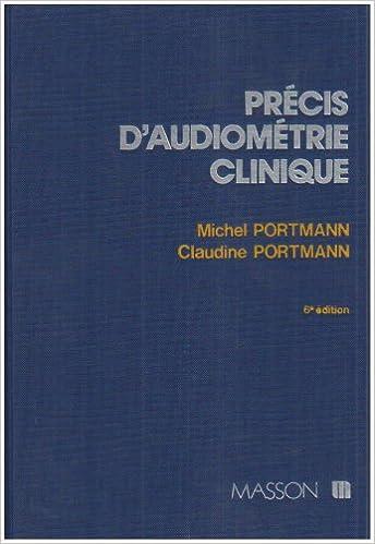 Lire un Précis d'audiométrie clinique pdf
