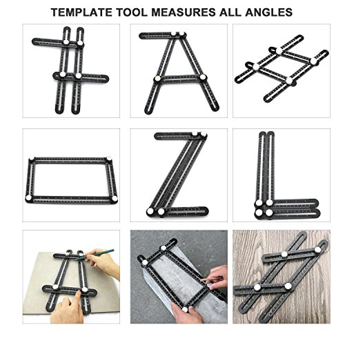 UPGRADED Multi Angle Ruler,Aluminum Alloy Template Tool Angle Finder,Measures All Angles for Woodworking,Gift for Handyman,Carpenters. by Weekend fun (Image #3)