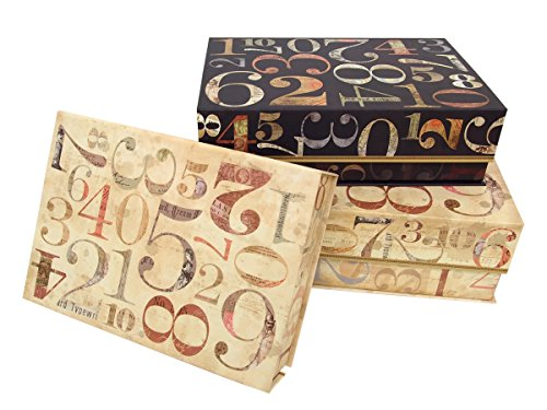 Punch Studio Numerals Collection Set Of 3 Nesting Flap Boxes