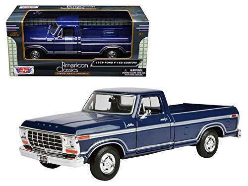 (1979 Ford F-150 Pickup Truck Blue 1/24 Diecast Model Car by Motormax)