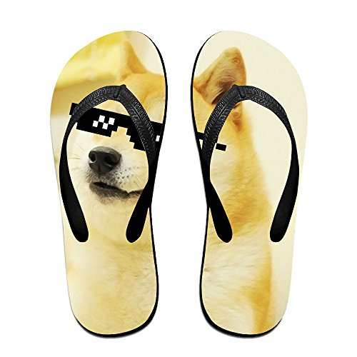 Loopkt Doge Sunglasses Swag Unisex Classical Comfortable Flip-Flop Beach - Payless Sunglasses
