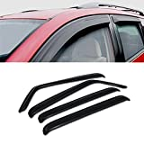 jk rain guards - For 2007-2017 Jeep Wrangler 4 Doors JK Models SUN/RAIN/WIND GUARD SMOKE VENT SHADE DEFLECTOR WINDOW VISOR 4PCs