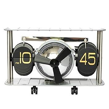 TXD Clock Creative Home automš¢ticamente Las pš¢ginas Flip Flop Jong-Jong-Continental Reloj Modelo de helicš®ptero de Combate, Gris: Amazon.es: Hogar