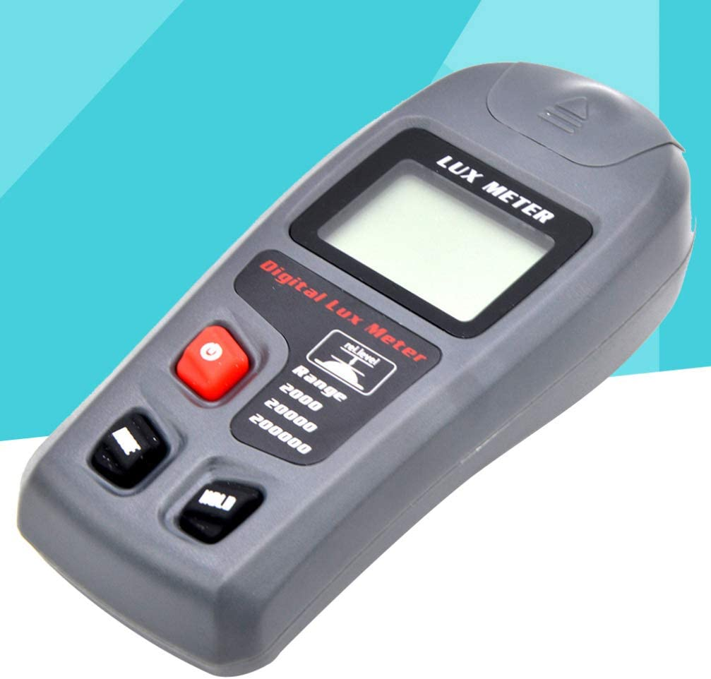 HEMOBLLO 1 PC LCD Display Auto Range Handheld Durable Light Test Illuminance Meter Luxmeter Support Data Hold Auto Poweroff Low Power Alert