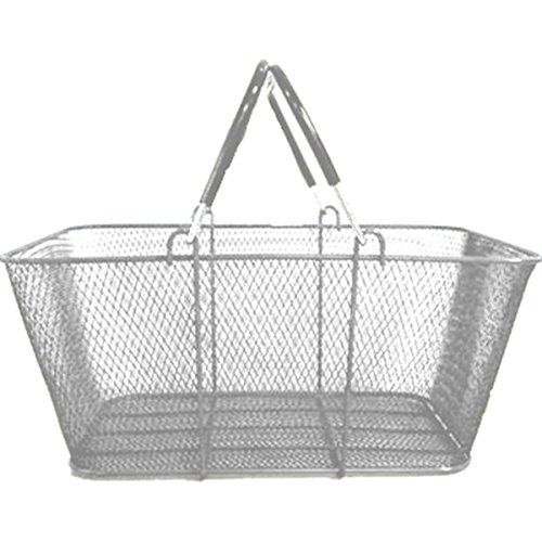 Shopping Storage Utility Basket Steel Wire Mesh Market Gift Convenience Store Home Silver Lot of 6 New by Bentley's Display