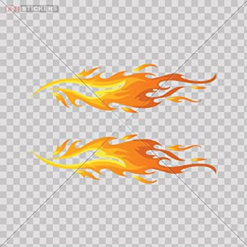Amazoncom Decals Stickers Flames Car WindowHelmetTruckVinyl - Car window stickers amazon