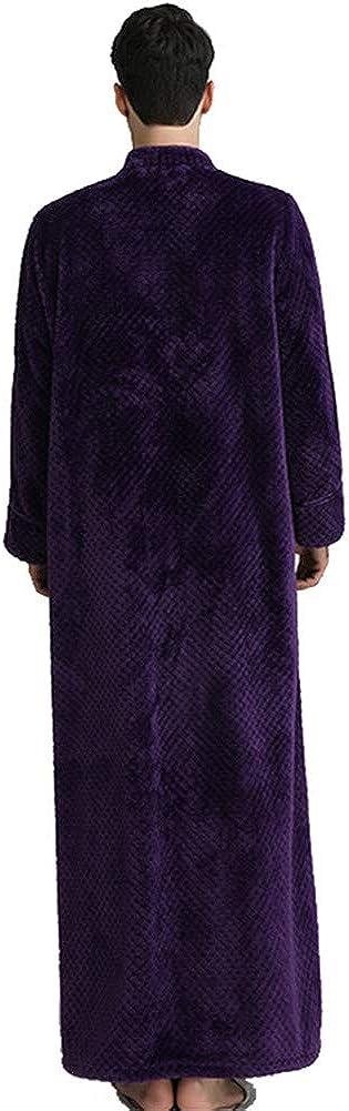 GODGETS Homme Femme Peignoir//Robe de Chambre en Polaire Zipp/ée Loose Fit Peignoir de Bain Souple