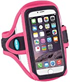 Armband for iPhone 7, 6, 6s; Also for iPhone 5, 5s, 5c, SE with OtterBox Commuter Case - Great for Running, Walking & Workouts - Ultra Reflective, Sweat-Resistant Design [Pink]
