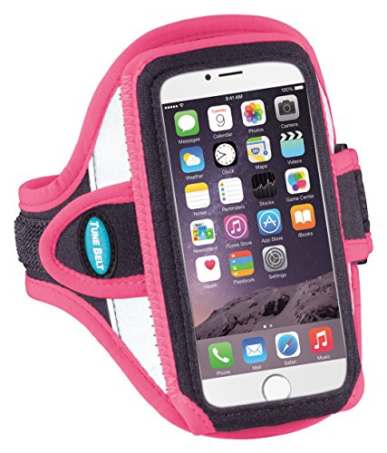 Tune Belt Armband for iPhone 8 7 6s 6 (NOT Plus) - for Running & Working Out - Sweat-Resistant - Fits iPhone 5 5s 5c SE with OtterBox Commuter [Pink] (Apple Iphone 5c Touch Screen Not Working)