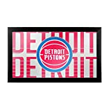 Trademark Gameroom NBA1500-DP3 NBA Framed Logo Mirror - City - Detroit Pistons