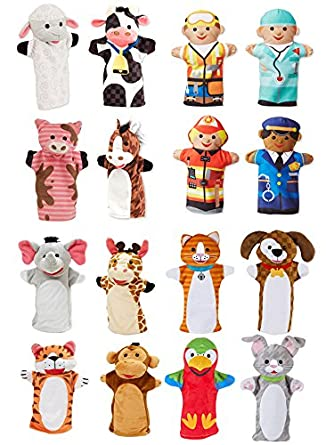amazon com becker s school supplies puppet pals set of 16