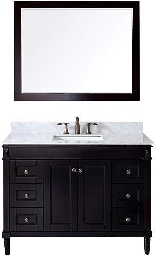 Virtu USA Tiffany 48 inch Single Sink Bathroom Vanity Set