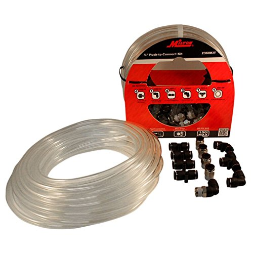 Milton 2360KIT 50 Foot 3/8'' OD Push to Connect Tubing Kit - 13 Piece
