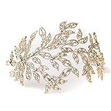 Light Gold Crystal Princess Bridal Tiara,Crystal Bridal Tiaras Headpieces,Wedding Tiaras Headpieces