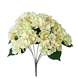 Outtop 7 Heads 19.7 Inch Hydrangea Artificial Flowers Bouquets Fake Flower for Home and Wedding Decoration 8