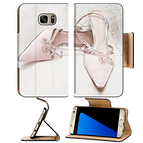 Luxlady Premium Samsung Galaxy S7 EDGE Flip Pu Leather Wallet Case IMAGE ID 2958185 Colored wedding shoes on a white gown (Fancy Dress Ideas For Pairs)