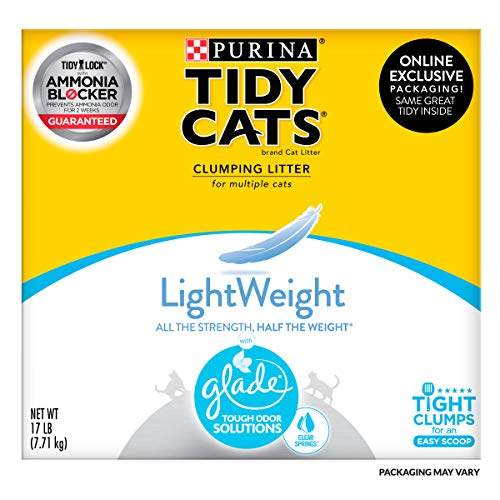 Purina Tidy Cats LightWeight Glade Tough Odor Solutions Clear Springs Clumping Dust Free Cat Litter - 17 lb. Box