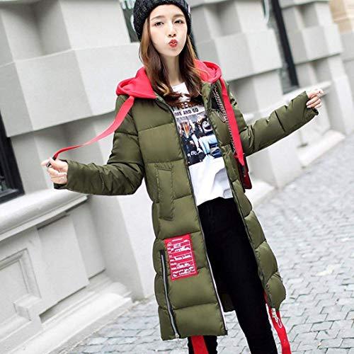 Capuchon Coat Outdoor Mode Elgante Stepp Chaud Longues Loisir Blouson paissir Chic Chemine Quilting Parka Taille Hiver Armeegrn Grande Manches Fashion Longues Femme pqBBfT8
