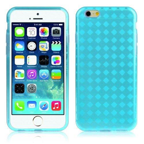 Cubierta de la caja TPU de la piel fresca de Apple iPhone 6 Teléfono Caja protectora caso de la cubierta del caso de Shell transparente Rhomb - Turquesa