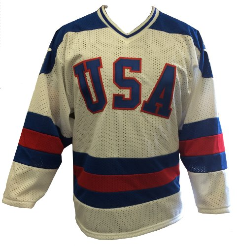 White Home 1980 USA Olympic Hockey Replica Game Mesh Jersey Miracle on Ice Adult – DiZiSports Store