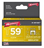 Arrow Fastener 591188 1/4-Inch by 5/16-Inch Clear Insulated Staples