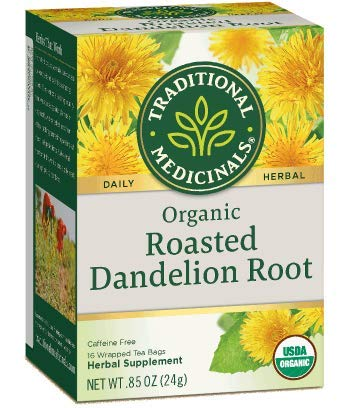 Traditional Medicinals Organic Roasted Dandelion Root, 16-Count (Pack of 3) (Dandelion Organic Tea)