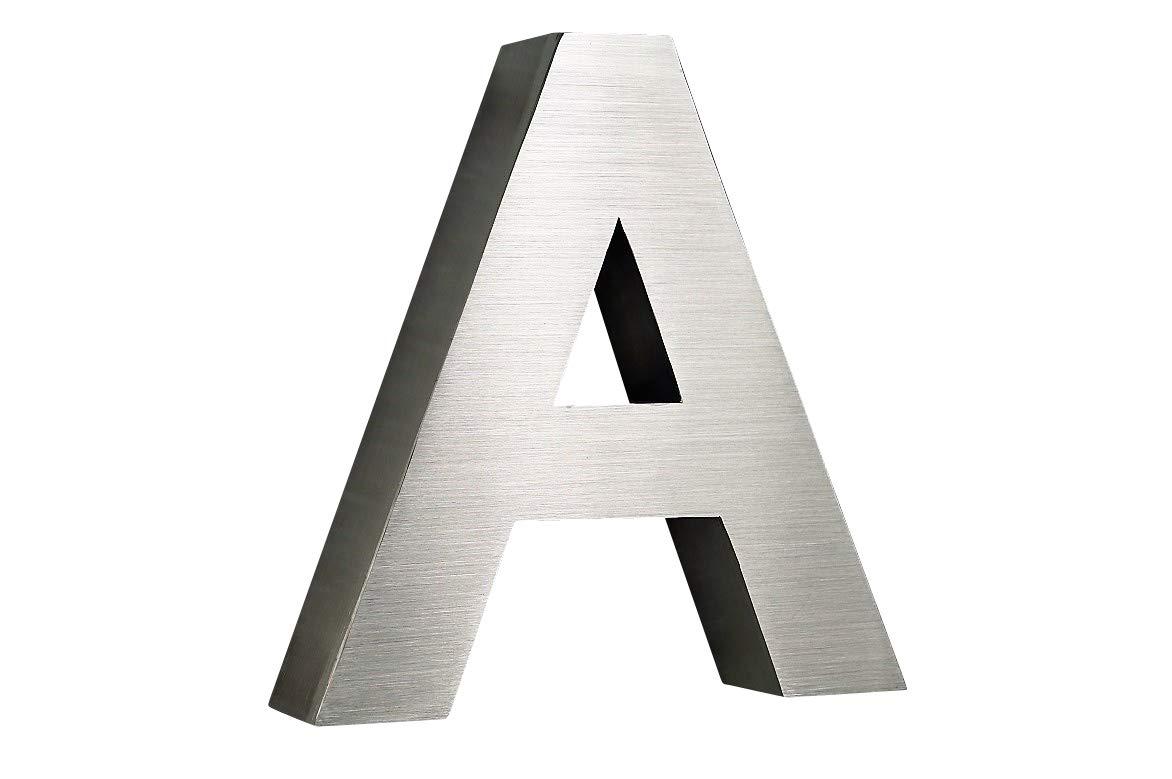 0,1,2,3,4,5,6,7,8,9/letras H15/cm a d e Arial en 3d de dise/ño//V2/A c n/úmero de casa H20/cm Acero Inoxidable a elegir b