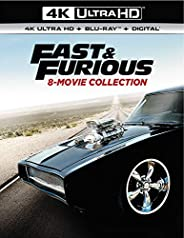 Fast & Furious 8-Movie Collection (4K Ultra Hd/Blu-Ray/Digi