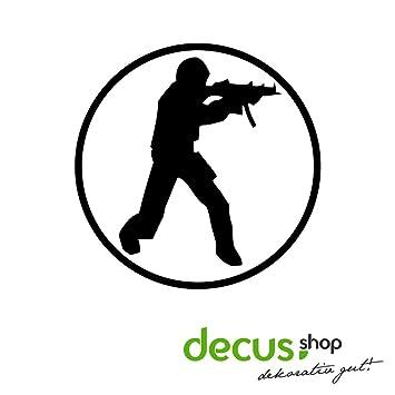 Counter Strike Logo//Pegatinas DUB OEM JDM Style Pegatinas: Amazon.es: Coche y moto