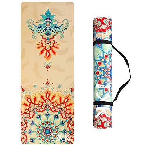 TXK Yoga Mat Non Slip Hot Yoga Mat,Eco-Friendly Natural Rubber | Best for Yoga, Pilates, Exercise, Workout, Bikram and…