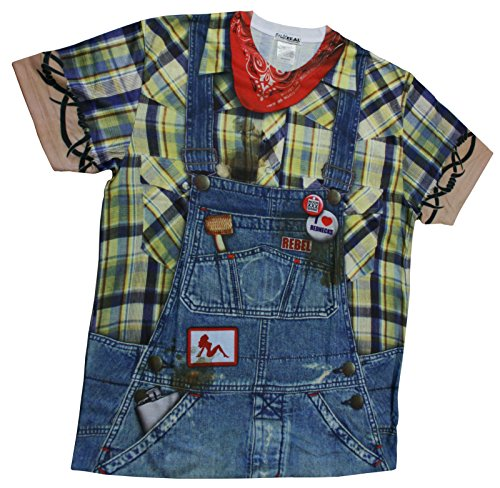 [Faux Real Mens Hillbilly Shirt Costumes [1115950] (Large (42-44))] (Scary Hillbilly Halloween Costumes)