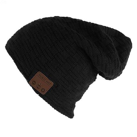Bluetooth cuffie senza fili cappello Bluetooth Beanie Hat Cappello Music  unisex berretto caldo morbido maglia tappi 02fa224e46c7